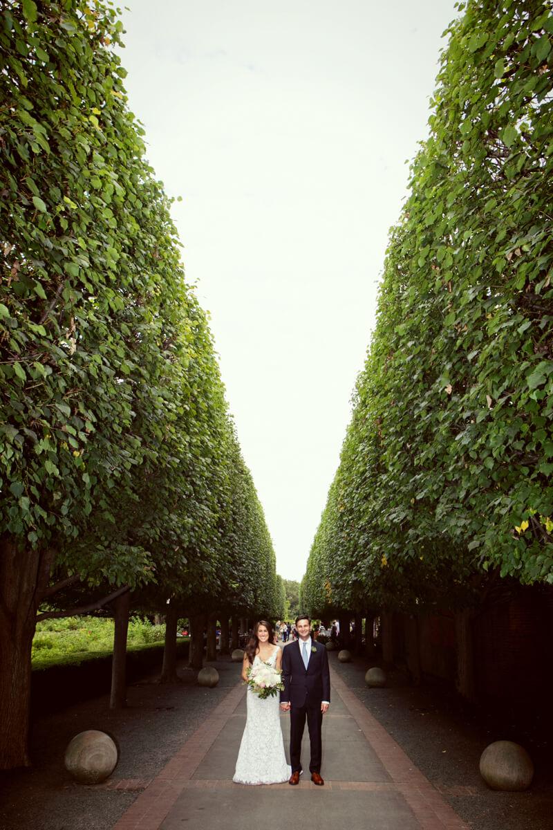 Chicago Botanic Gardens Bride and Groom