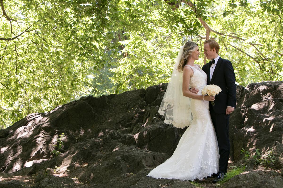 Wedding Portrait in Central Park New York