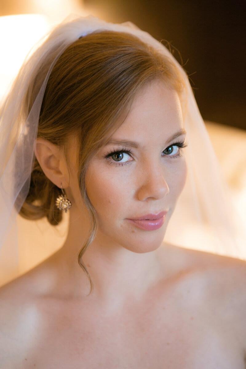Classical bride's portrait