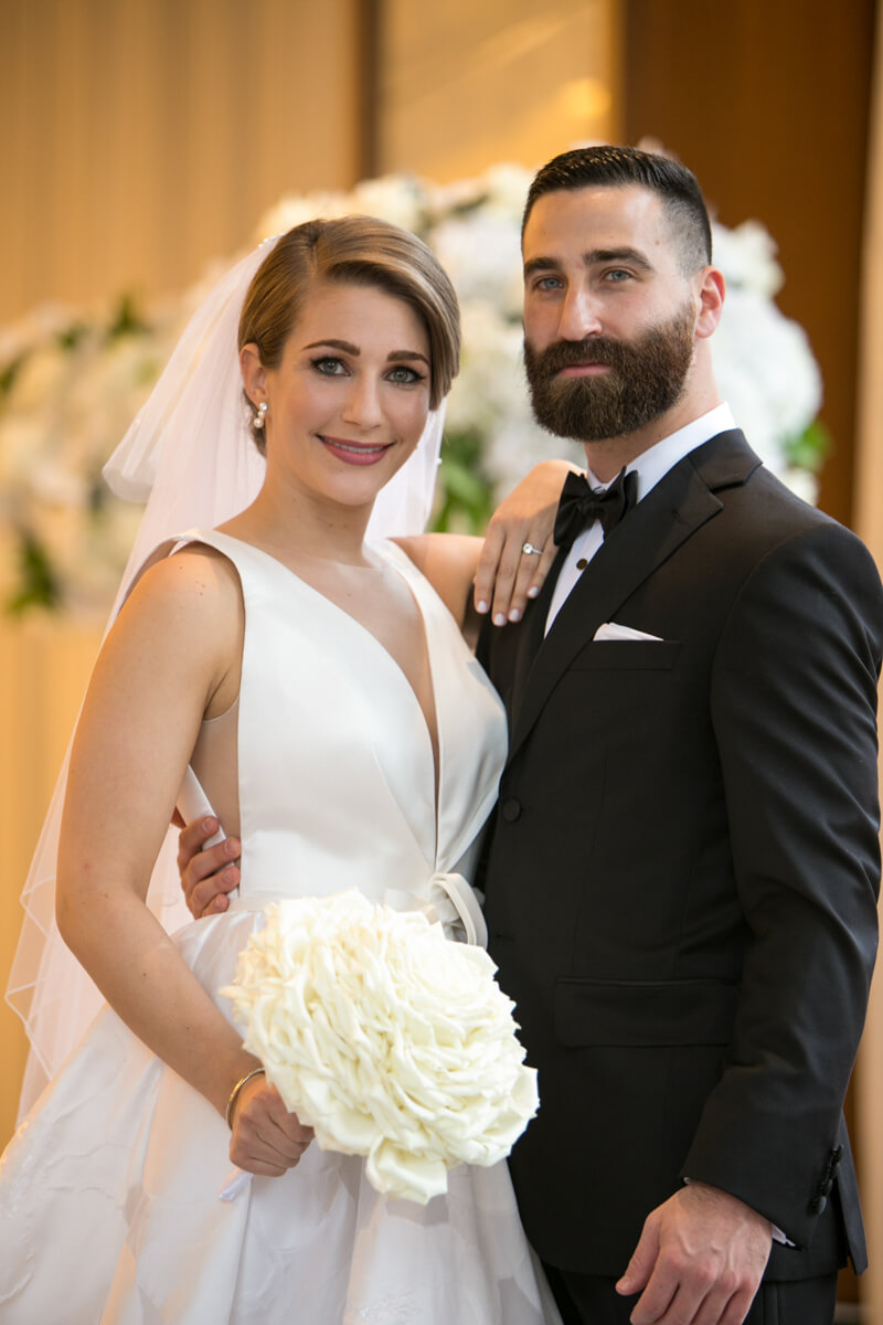 Casual and Classic wedding portrait
