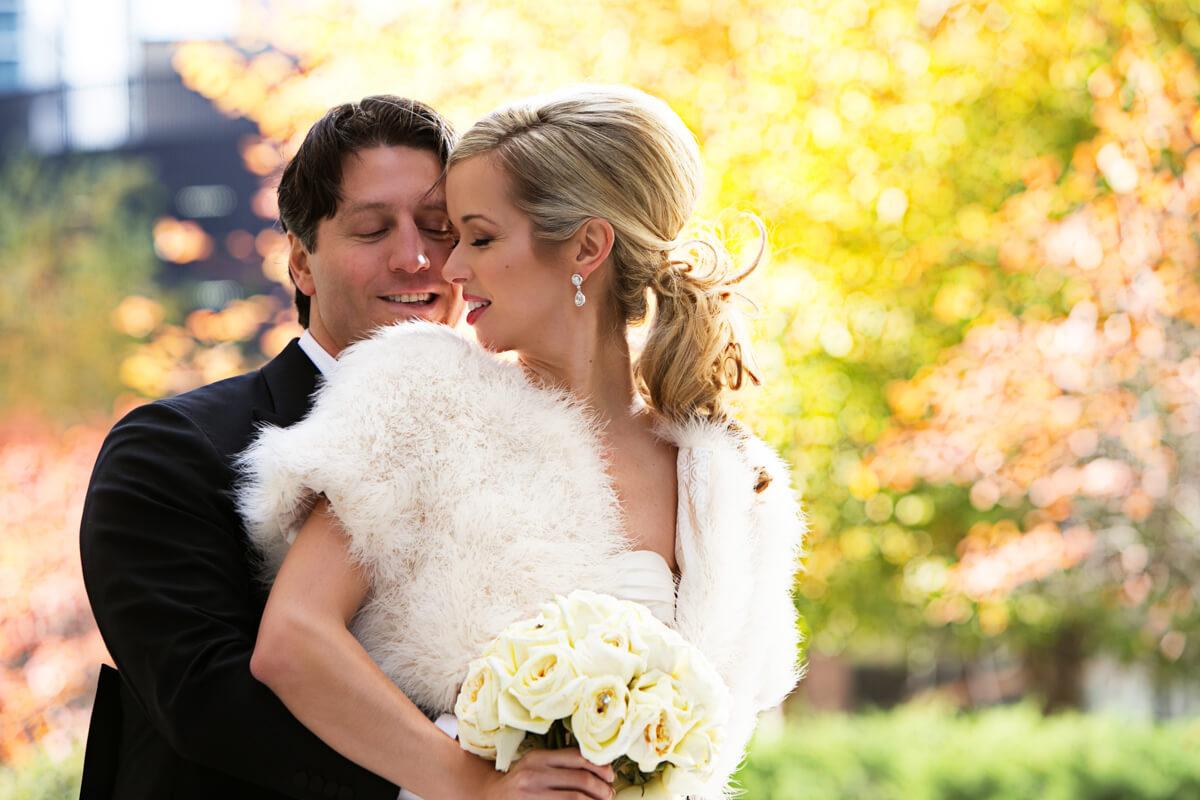 Autumn wedding portrait