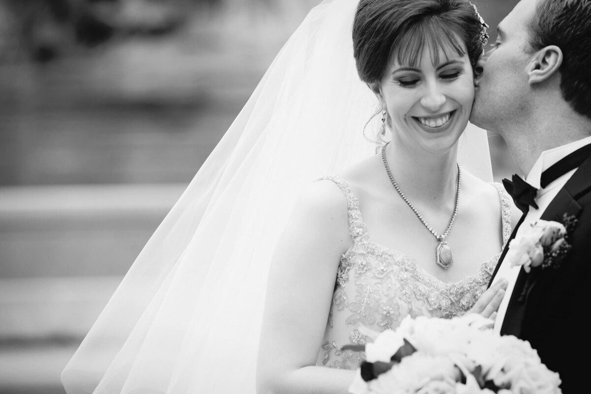 Black and White wedding portrait