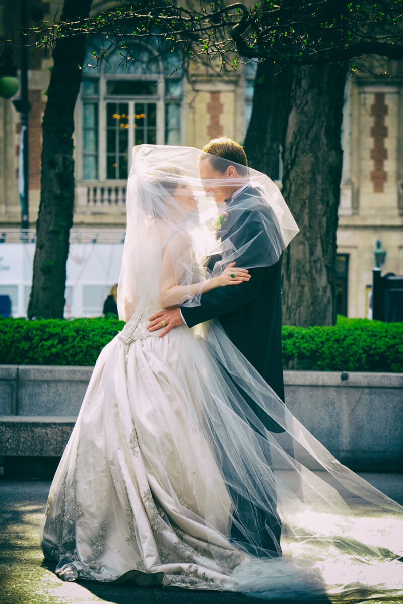Romantic Veil wedding portrait