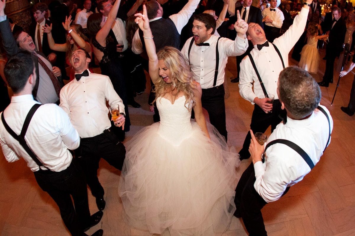 Bride dances at wedding reception