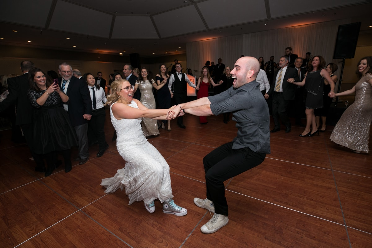 Fun Dancing at wedding reception