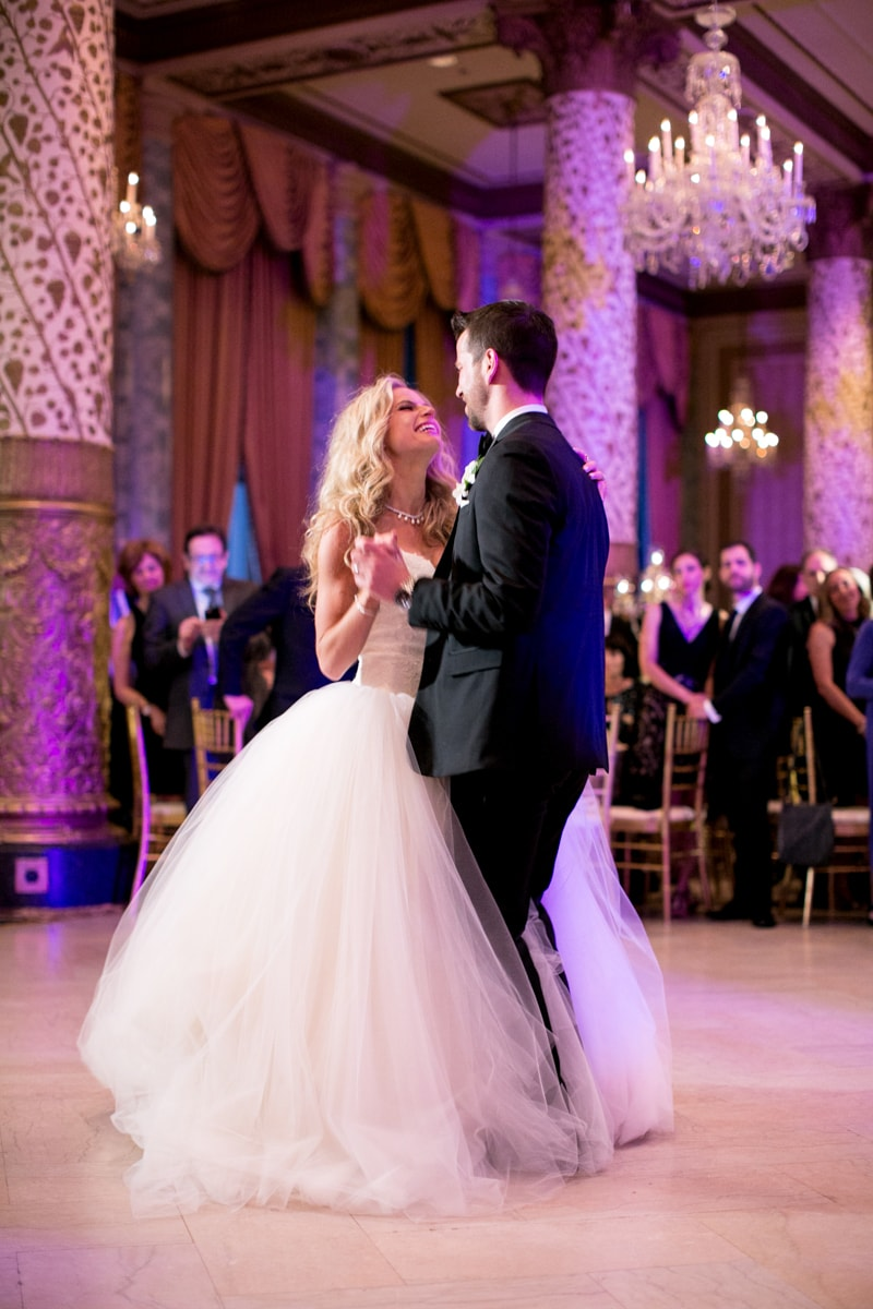 Wedding reception first dance at the Drake Hotel Chicago