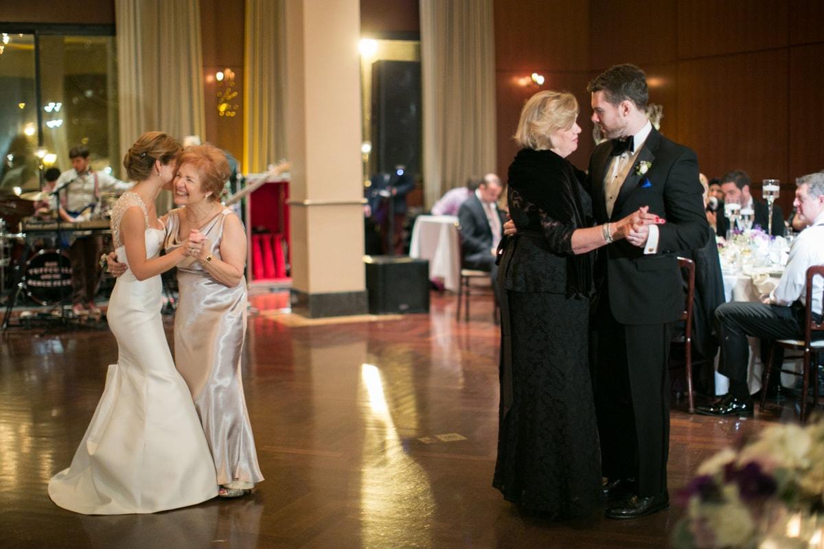 Wedding reception parents dance