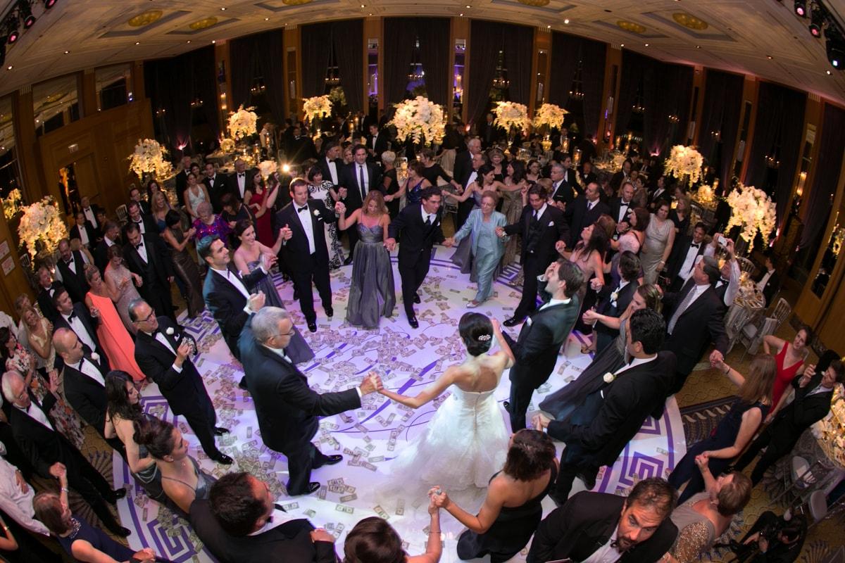 Greek dance at wedding reception at Peninsula Hotel