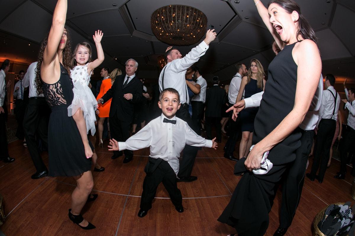 Kids dancing at wedding reception