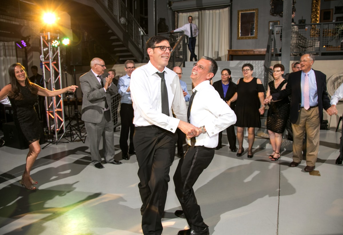 LGBT reception with groom's first dance