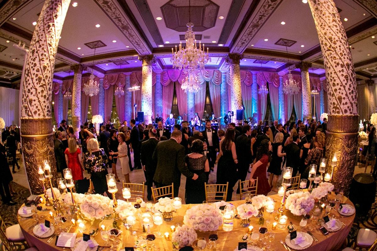 Wedding reception dancing at the Drake