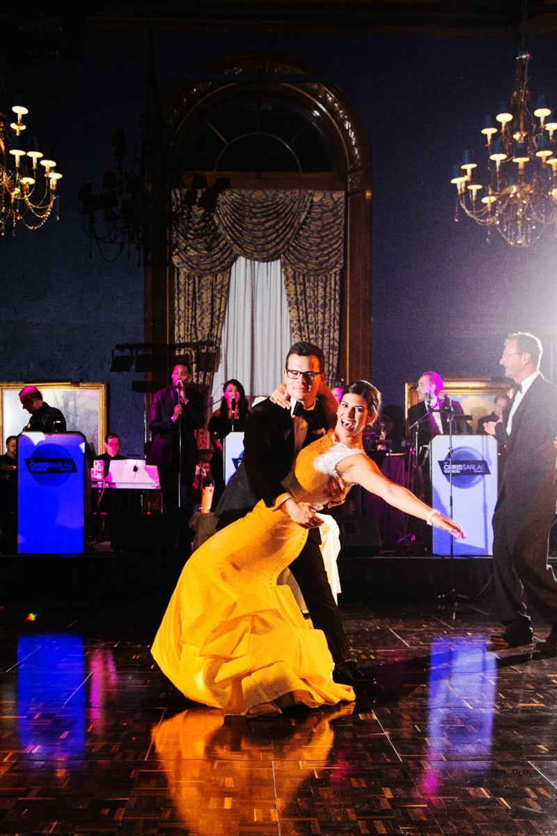 Wedding Reception first dance at Union League Club