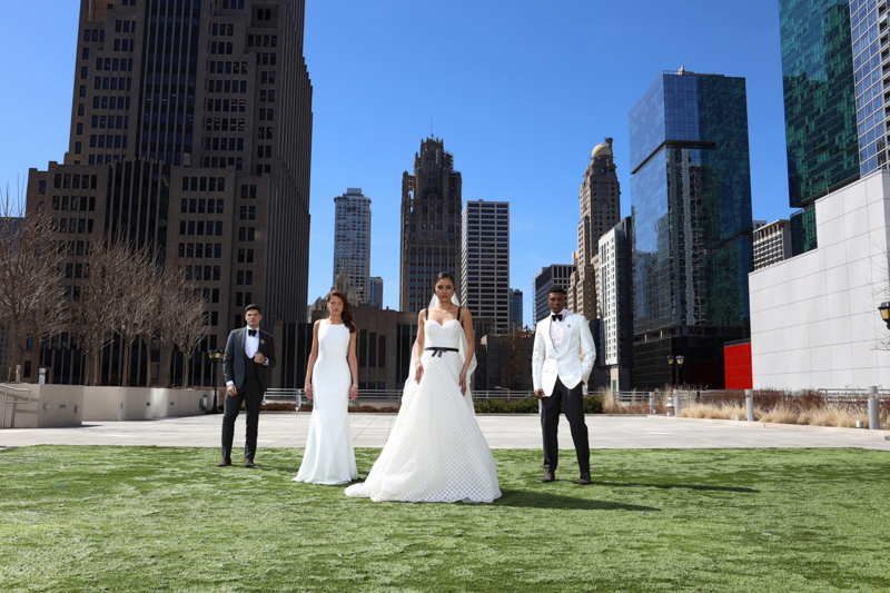 bridal fashion shoot in Chicago