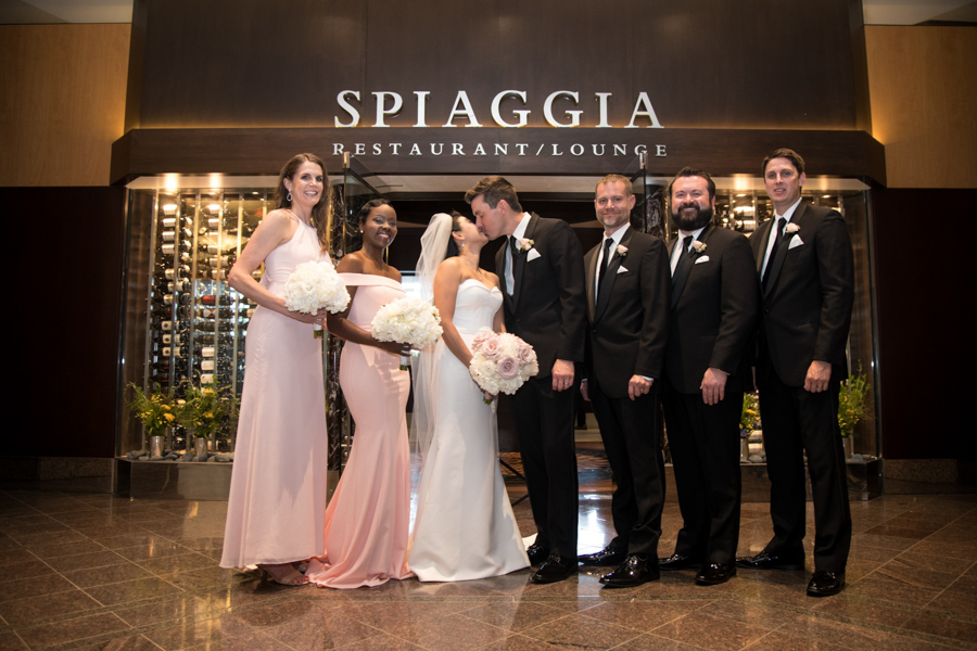 bridal party at spiaggia chicago