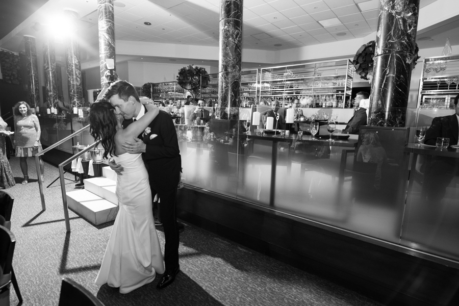 first dance at spiaggia dining room wedding