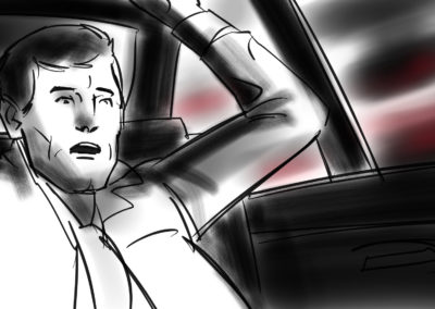 man in vehicle