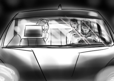 people in vehicle