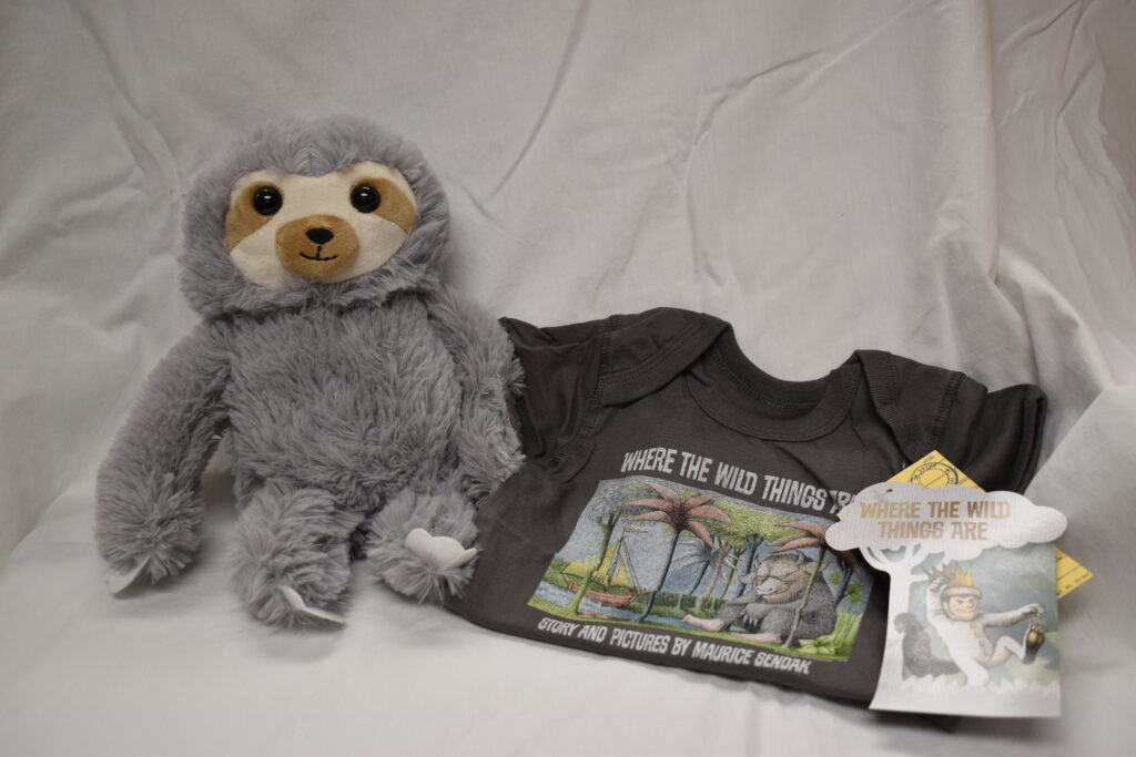 Where the Wild Things are Onesie 12 mo and a plush sloth