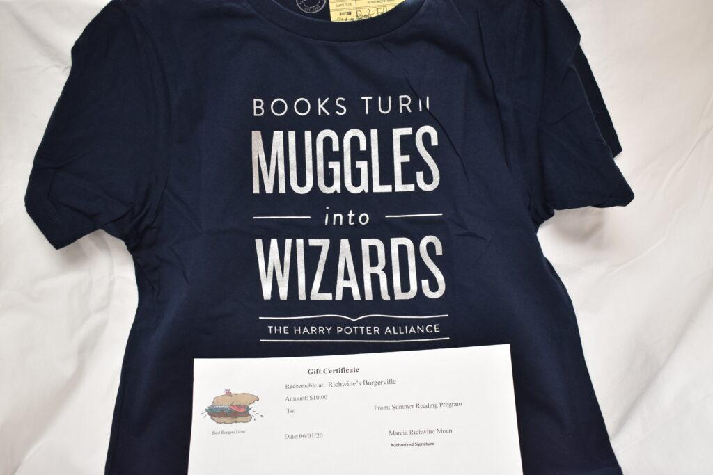 Harry Potter T-Shirt (kids 10/12) & $10 Burgerville Gift Certificate
