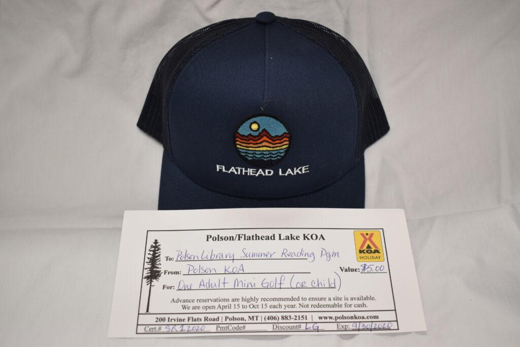 KAO Flathead Lake hat & Mini Golf at the KOA