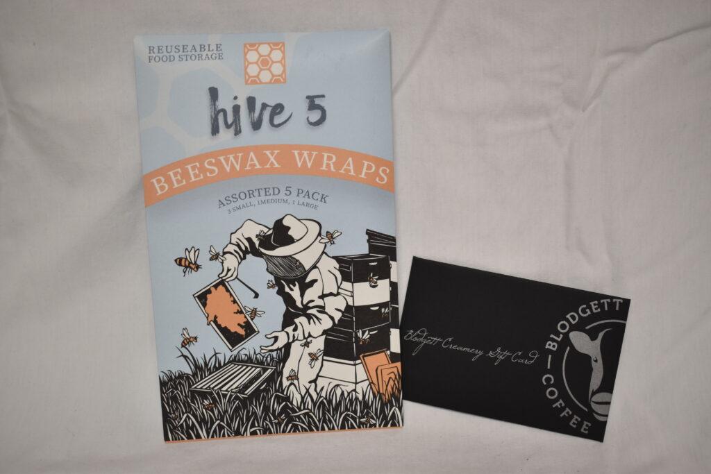 From Handmade Montana, Hive 5 Beeswax Food Wraps & $10 Blodgett Creamery Gift Card