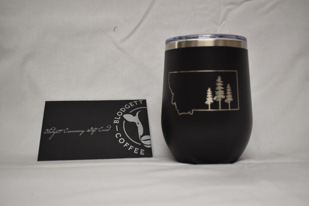From Second Nature Gifts Polar Camel Montana Stemless Tumbler & $10 Blodgett Creamery Gift Card