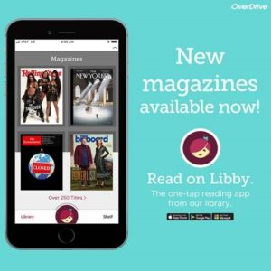 new magazines available now through the Libby app