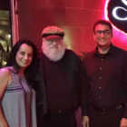 George RR Martin: Writer (Left : Sonia, Center : George, Right : Puneet)