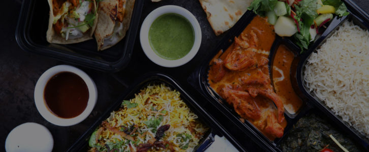 Spice Affair Boxed Lunches - with items like Chicken Biryani, Butter Chicken, etc.