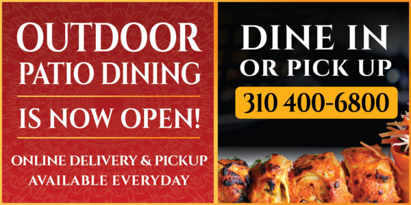 Outdoor Patio Dining Available or Order Online - Delivery Or Pickup