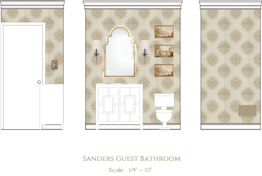 2D Rendering of Bathroom Renovation Elevation