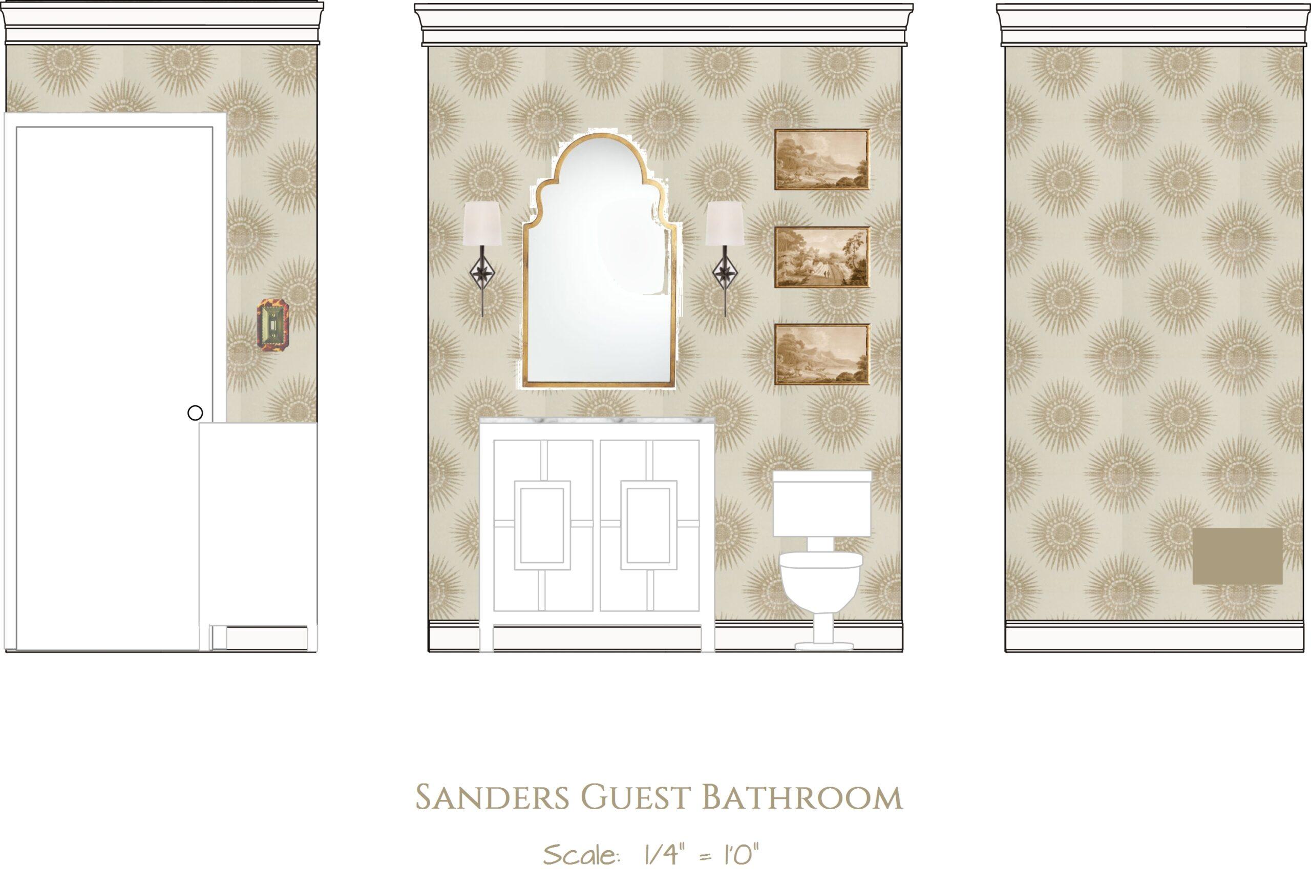 2D Rendering of Bathroom Renovation Elevation