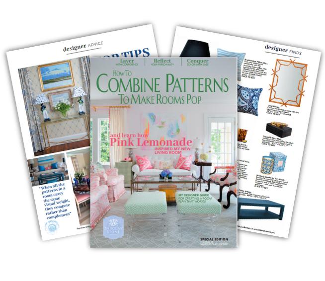 how to combine patterns interior design