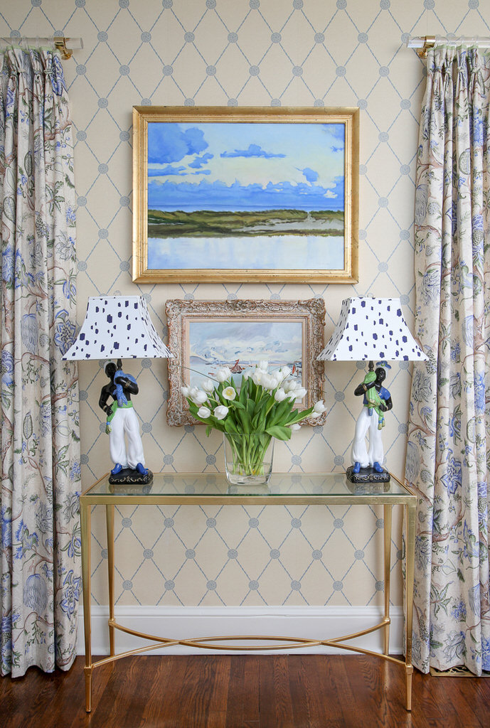 Blue Green Family Room Interior Design Inspiration
