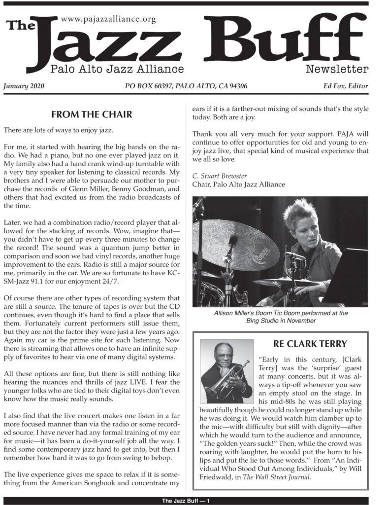 The Jazz Buff January 2020