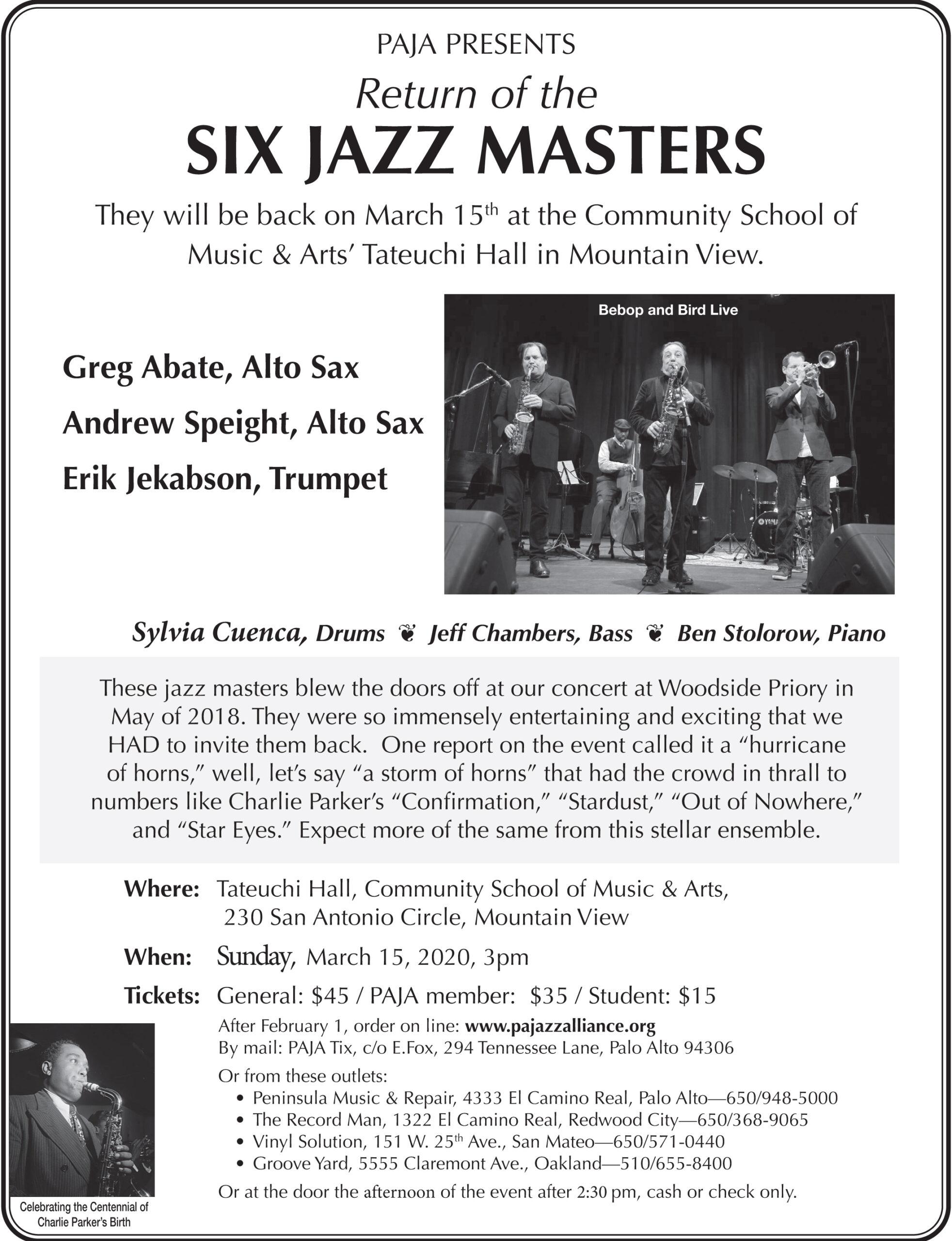 Six Jazz Masters
