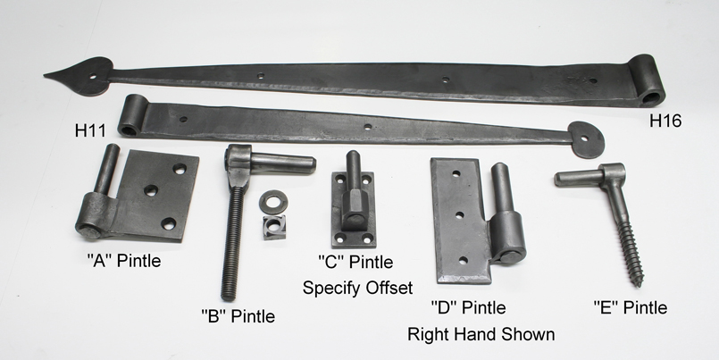 Strap Hinges with Pintles
