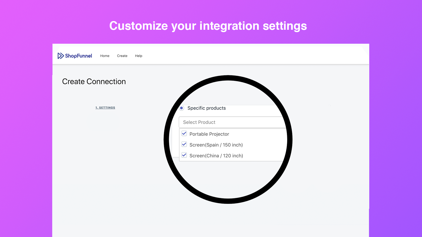 shopify etsy integration app shopfunnel io screen 2