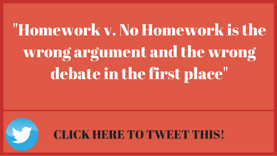 Homework Vs No Homework Is Wrong >> Homework Versus No Homework What S Best For Your Students