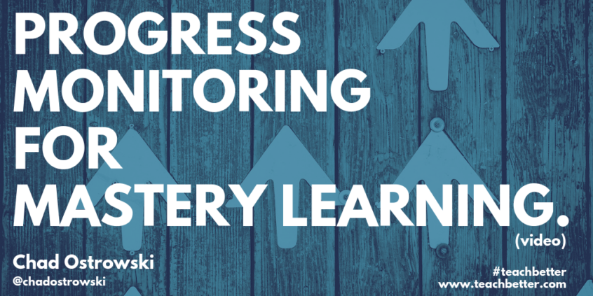 Watch video: Progress monitoring for mastery learning.