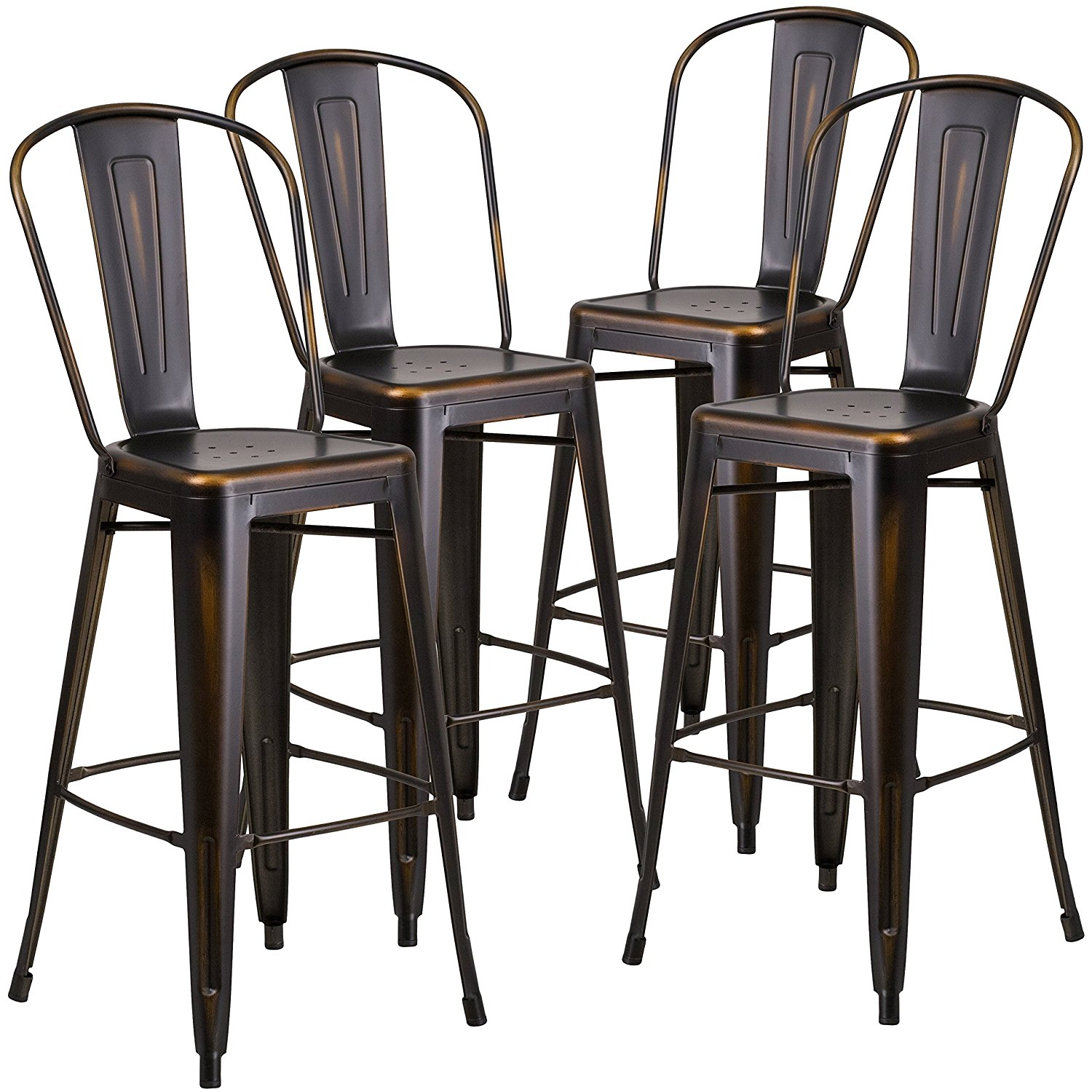 Marvelous 5012 Bistro Cafe High Back Stool Silver Metal For Rent Machost Co Dining Chair Design Ideas Machostcouk