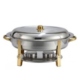 Stainless With Gold Trim 8 Qt - 5qt Oval