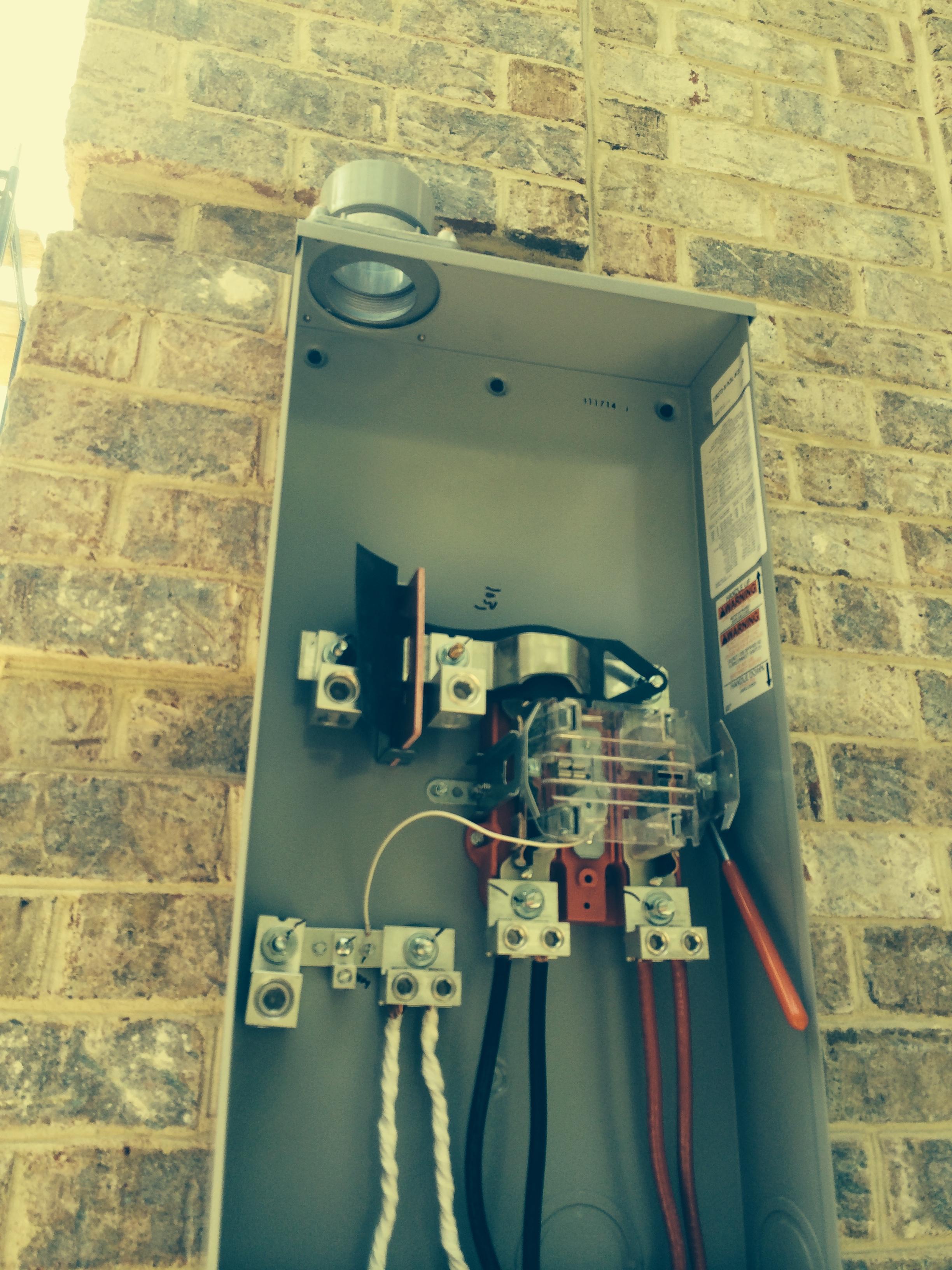 main electrical panel exterior installation repair