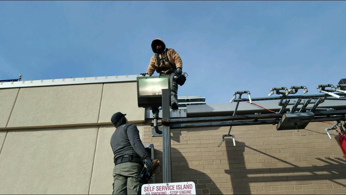 outdoor security light installation
