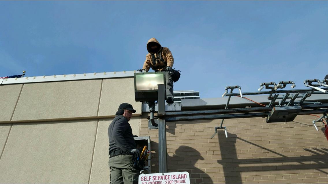 outdoor security light installation 1