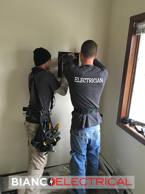 new electric board installation