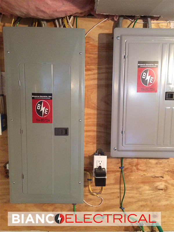 new electric panel installation