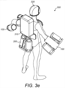 Gravity Inc's Jet Pack Patent Drawing