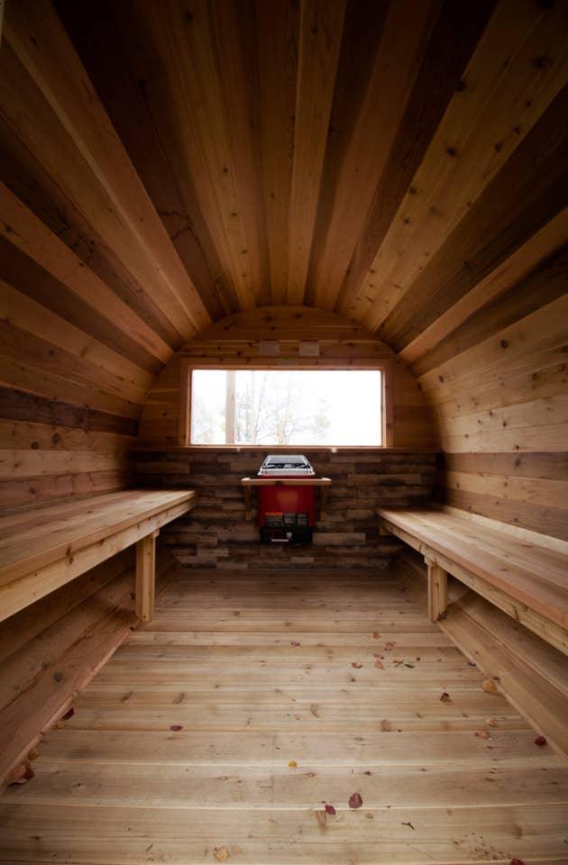 Barrel Sauna Inside (Handicap Accessible)