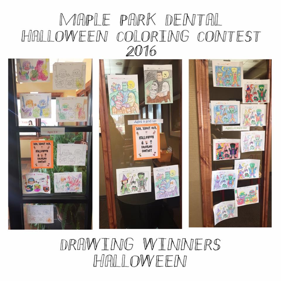 Halloween Coloring Contest Winners!